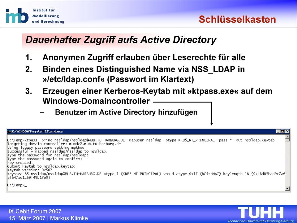 Binden eines Distinguished Name via NSS_LDAP in»/etc/ldap.