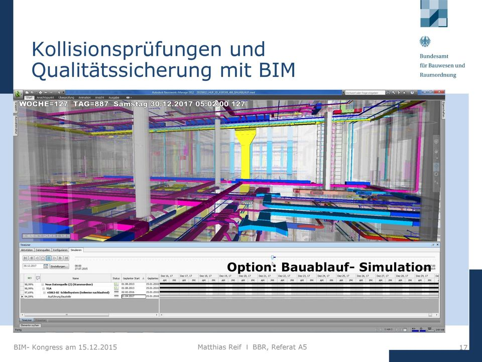 Bauablauf- Simulation BIM- Kongress