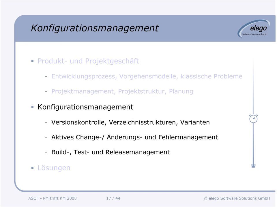 Konfigurationsmanagement - Versionskontrolle, Verzeichnisstrukturen, Varianten - Aktives