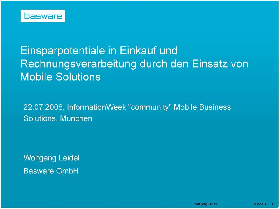 "2008, InformationWeek ""community"" Mobile Business"