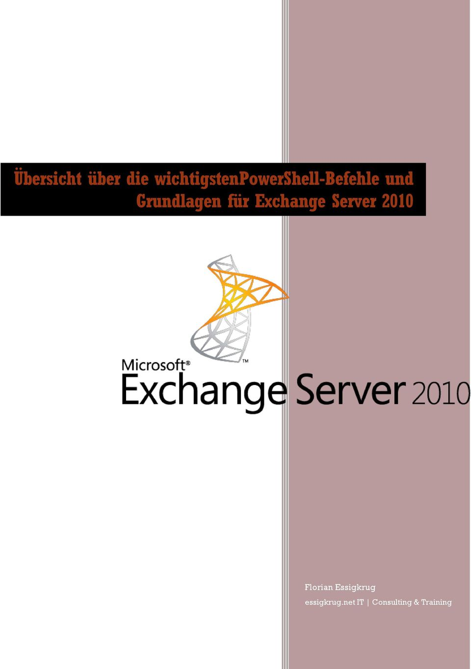 Grundlagen für Exchange Server 2010