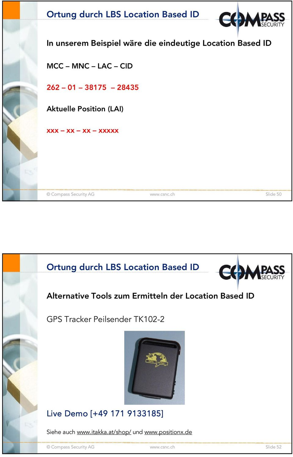 Location Based ID Alternative Tools zum Ermitteln der Location Based ID GPS Tracker Peilsender