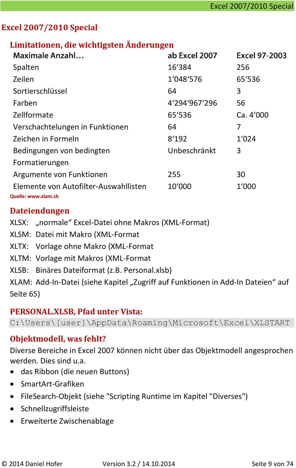 Daniel Hofer Excel VBA Referenz - PDF
