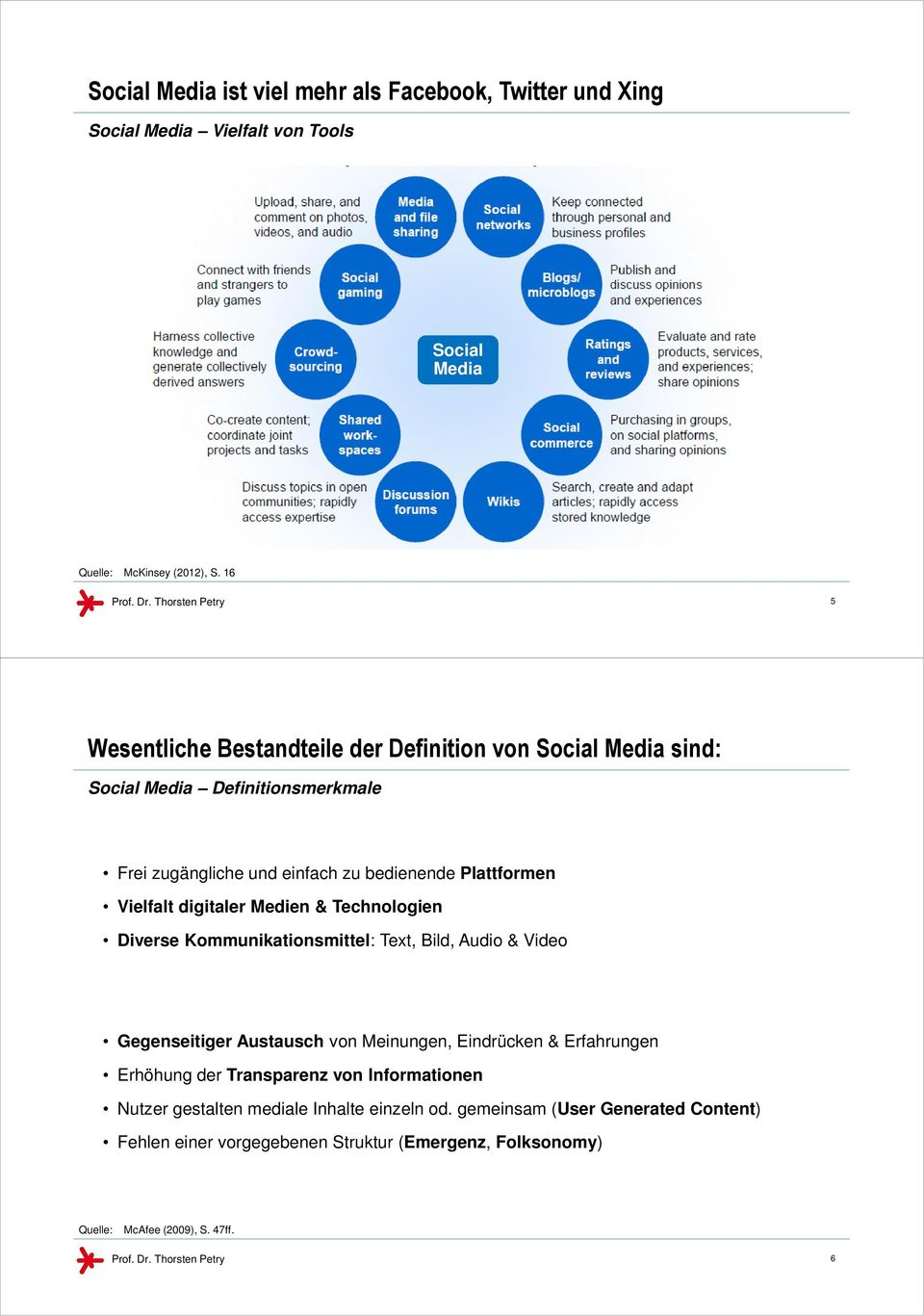 digitaler Medien & Technologien Diverse Kommunikationsmittel: Text, Bild, Audio & Video Gegenseitiger Austausch von Meinungen, Eindrücken & Erfahrungen Erhöhung der Transparenz
