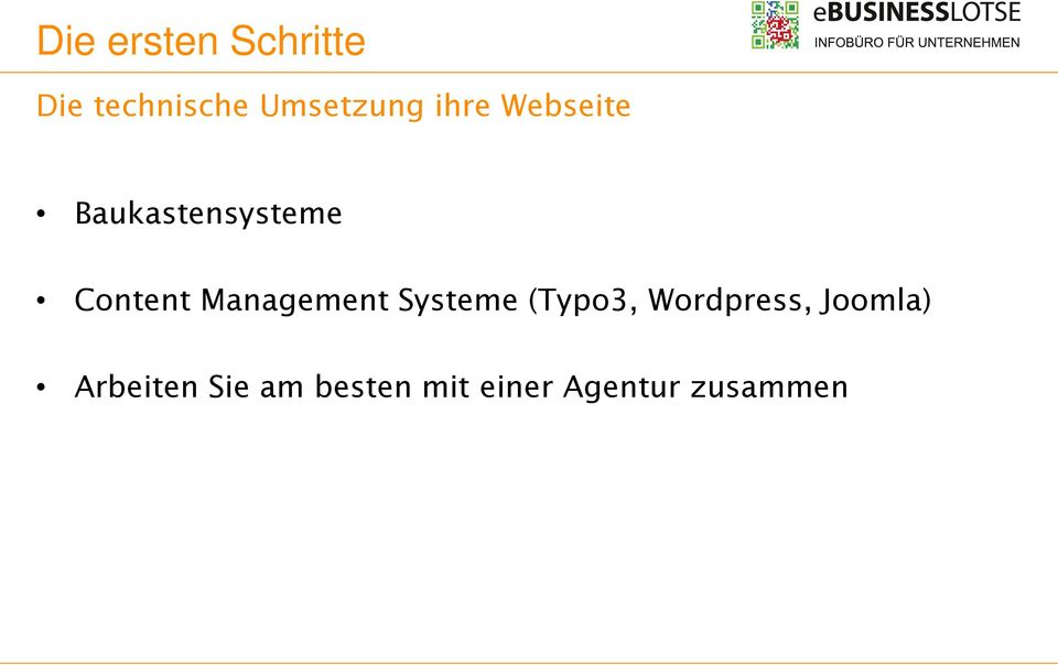 Management Systeme (Typo3, Wordpress,
