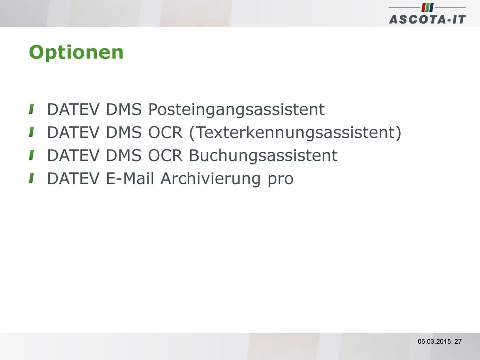 (Texterkennungsassistent) DATEV DMS OCR