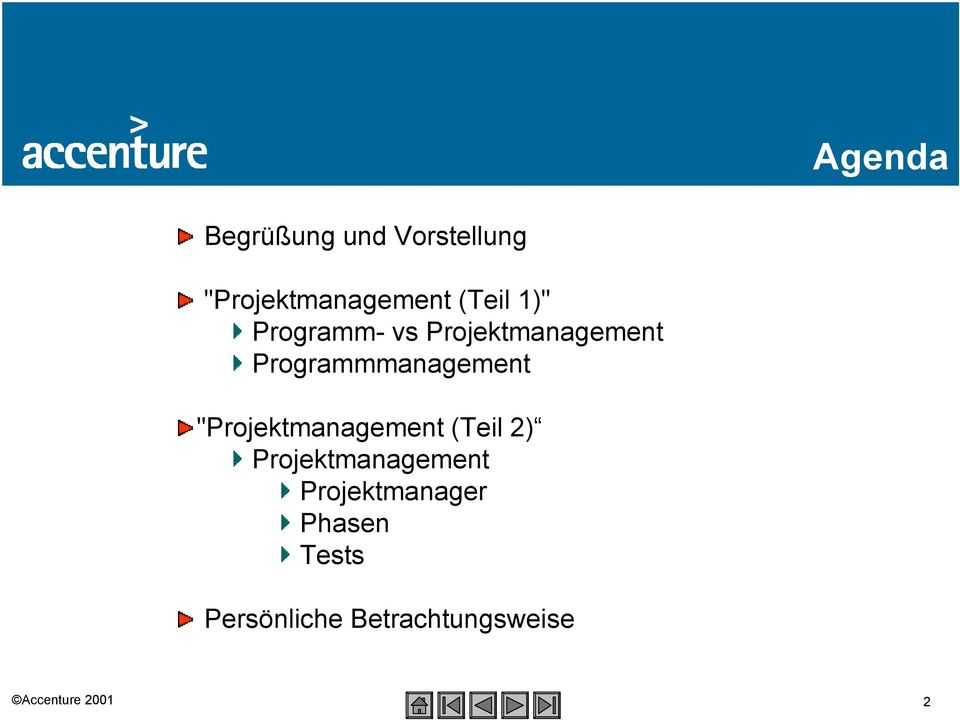 "Programmmanagement ""Projektmanagement (Teil 2)"