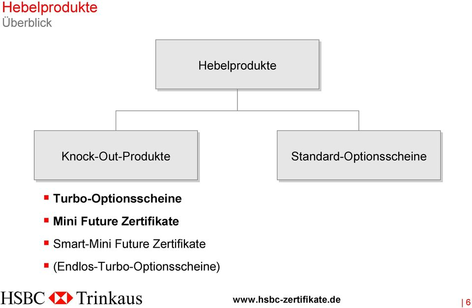 Turbo-Optionsscheine Mini Future Zertifikate