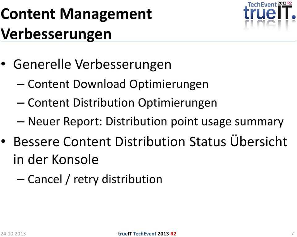 Distribution point usage summary Bessere Content Distribution Status