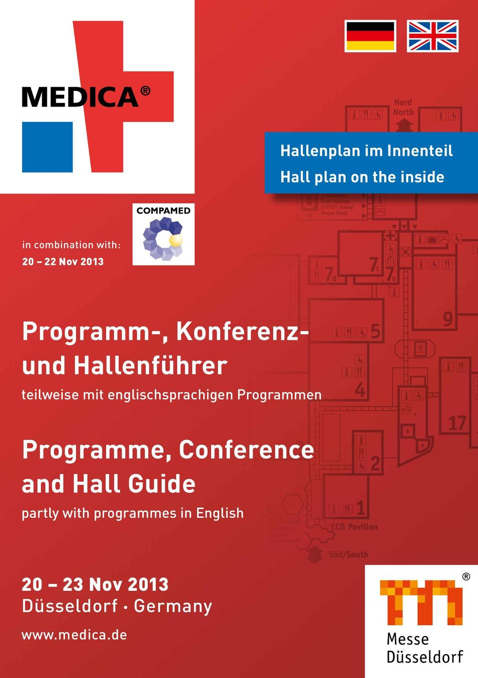 englischsprachigen Programmen Programme, Conference and Hall Guide