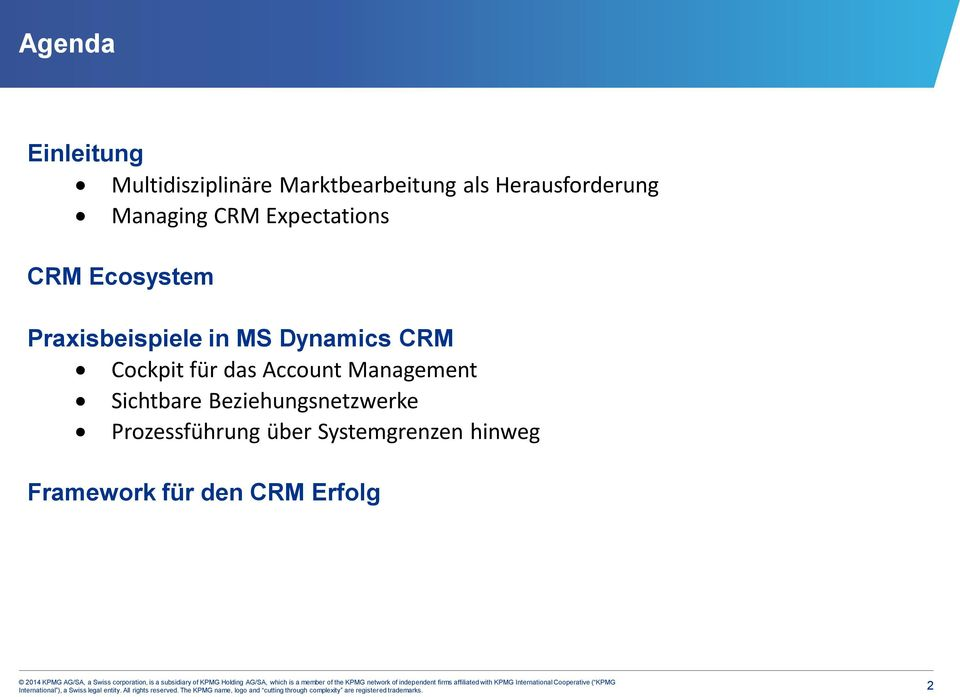 Praxisbeispiele in MS Dynamics CRM Cockpit für das Account Management