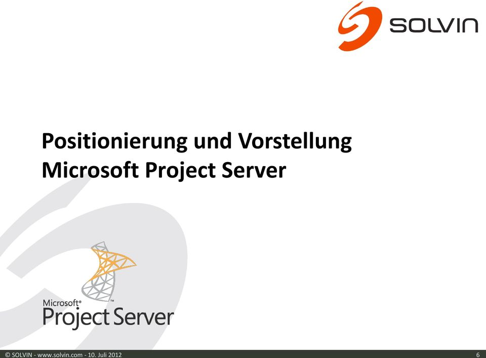 Project Server SOLVIN -
