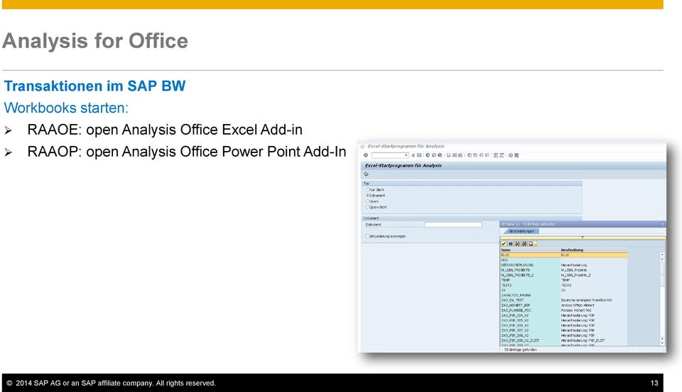 RAAOP: open Analysis Office Power Point Add-In 2014