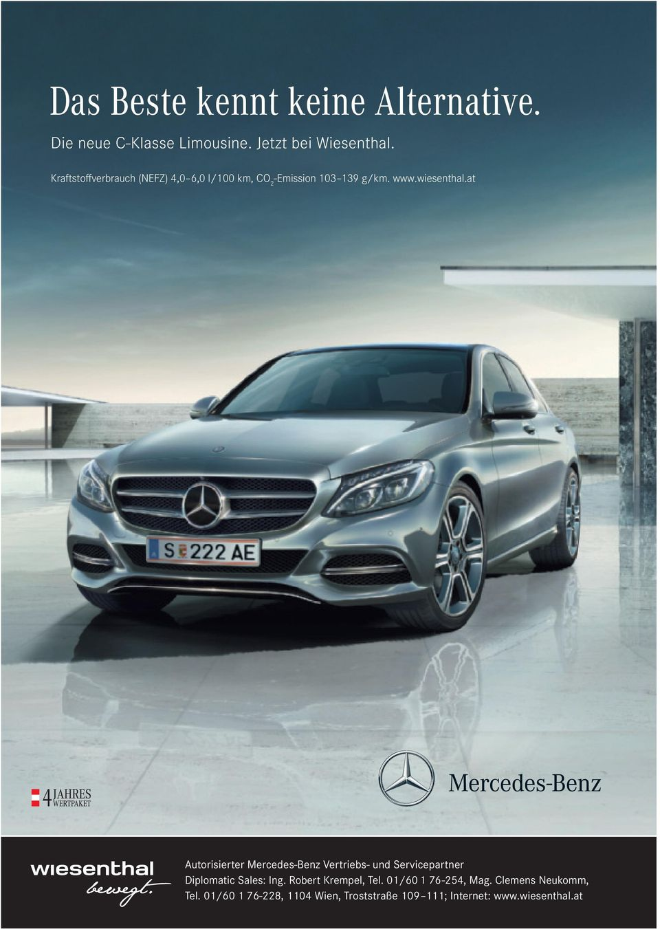 at Autorisierter Mercedes-Benz Vertriebs- und Servicepartner Diplomatic Sales: Ing.