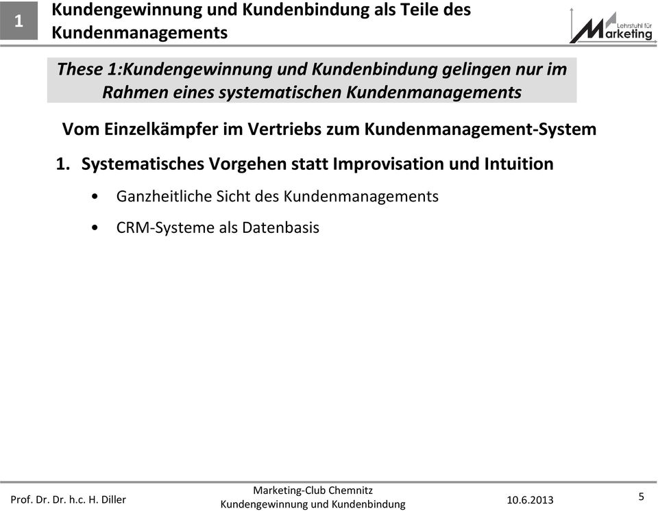 Kundenmanagement-System 1.