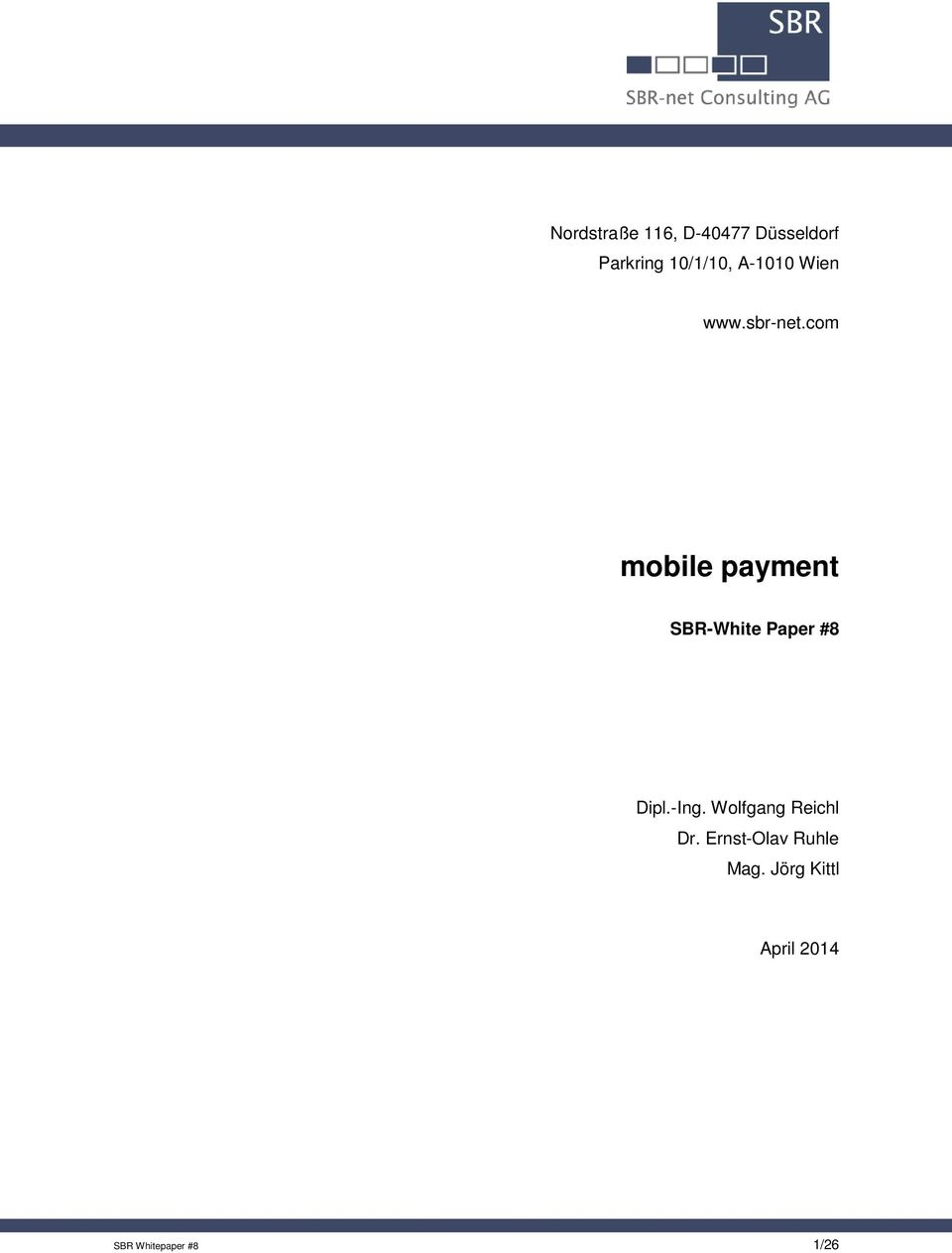 com mobile payment SBR-White Paper #8 Dipl.-Ing.