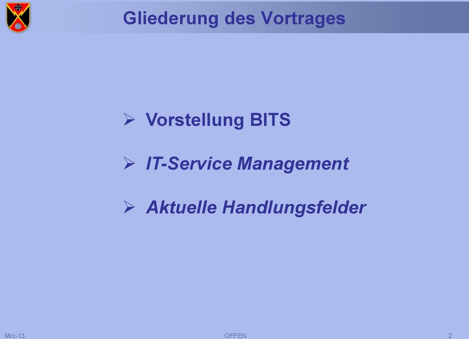BITS IT- Management