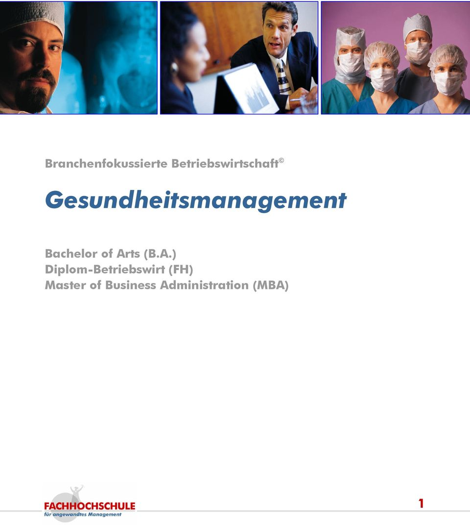 Gesundheitsmanagement Bachelor of