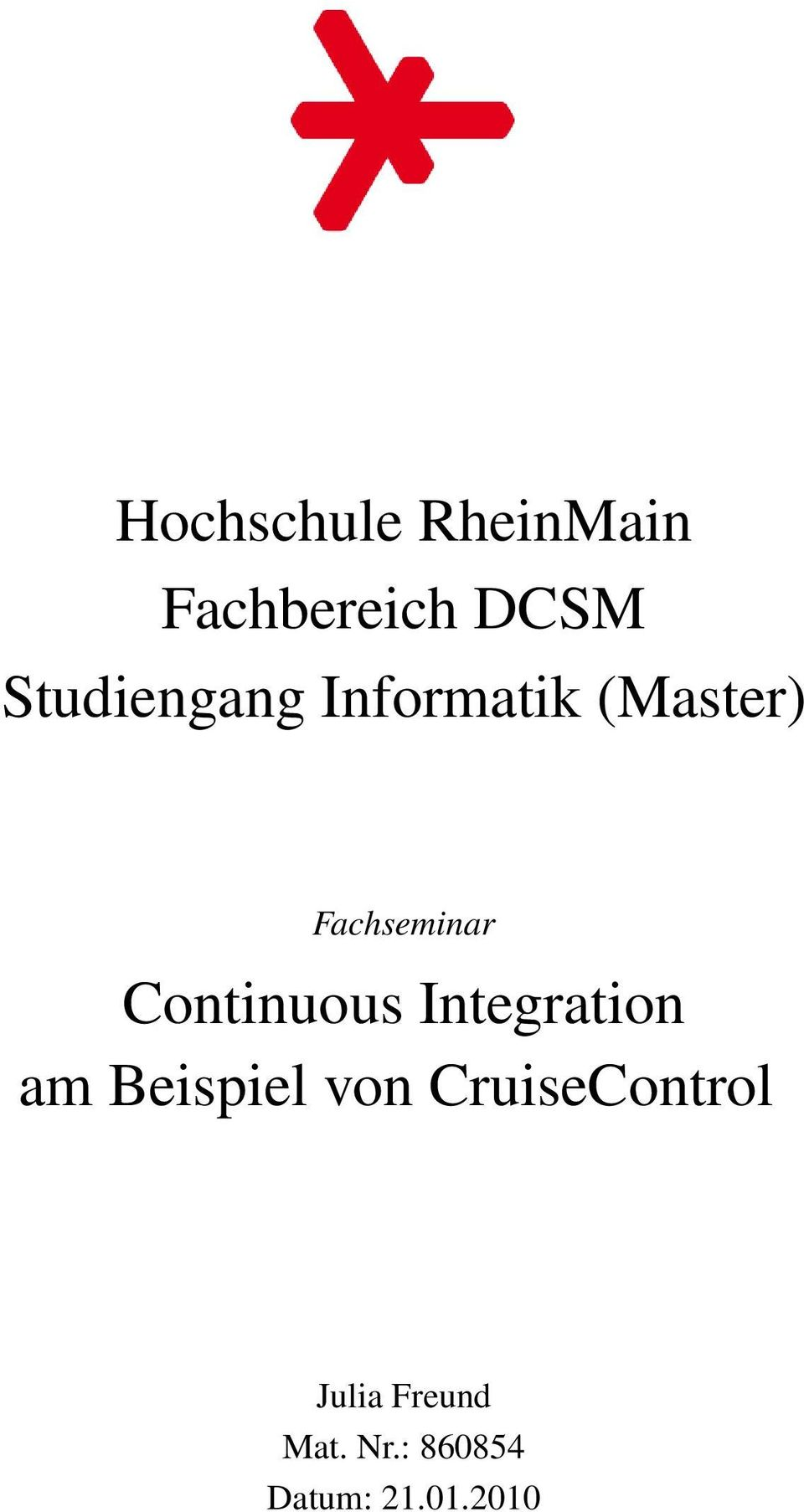 Continuous Integration am Beispiel
