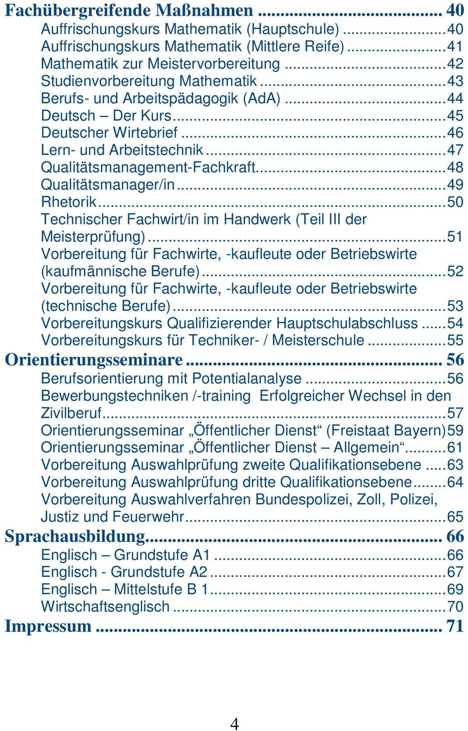 berufsf rderungsdienst n rnberg bildungsangebot pdf. Black Bedroom Furniture Sets. Home Design Ideas