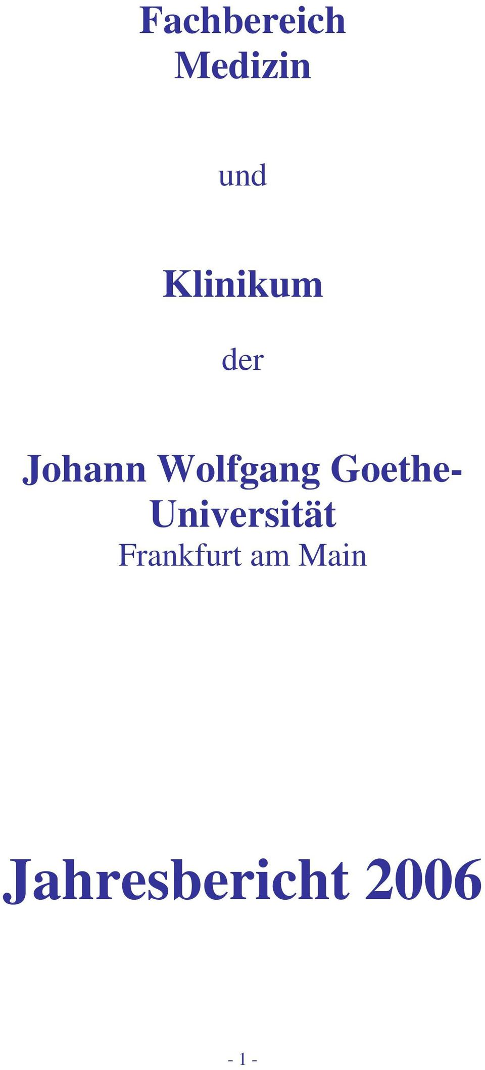 Goethe- Universität