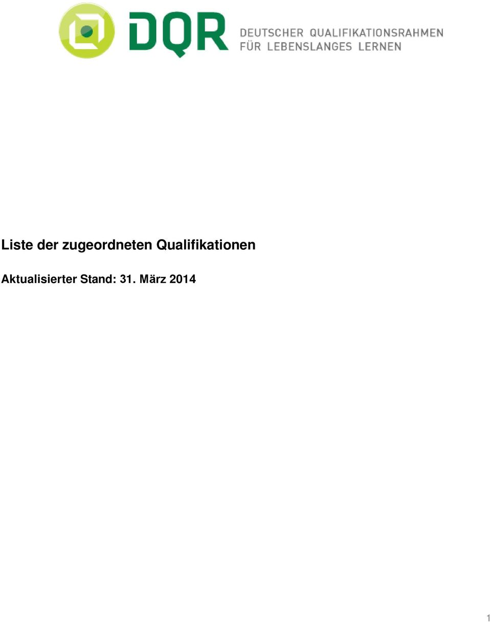 Qualifikationen