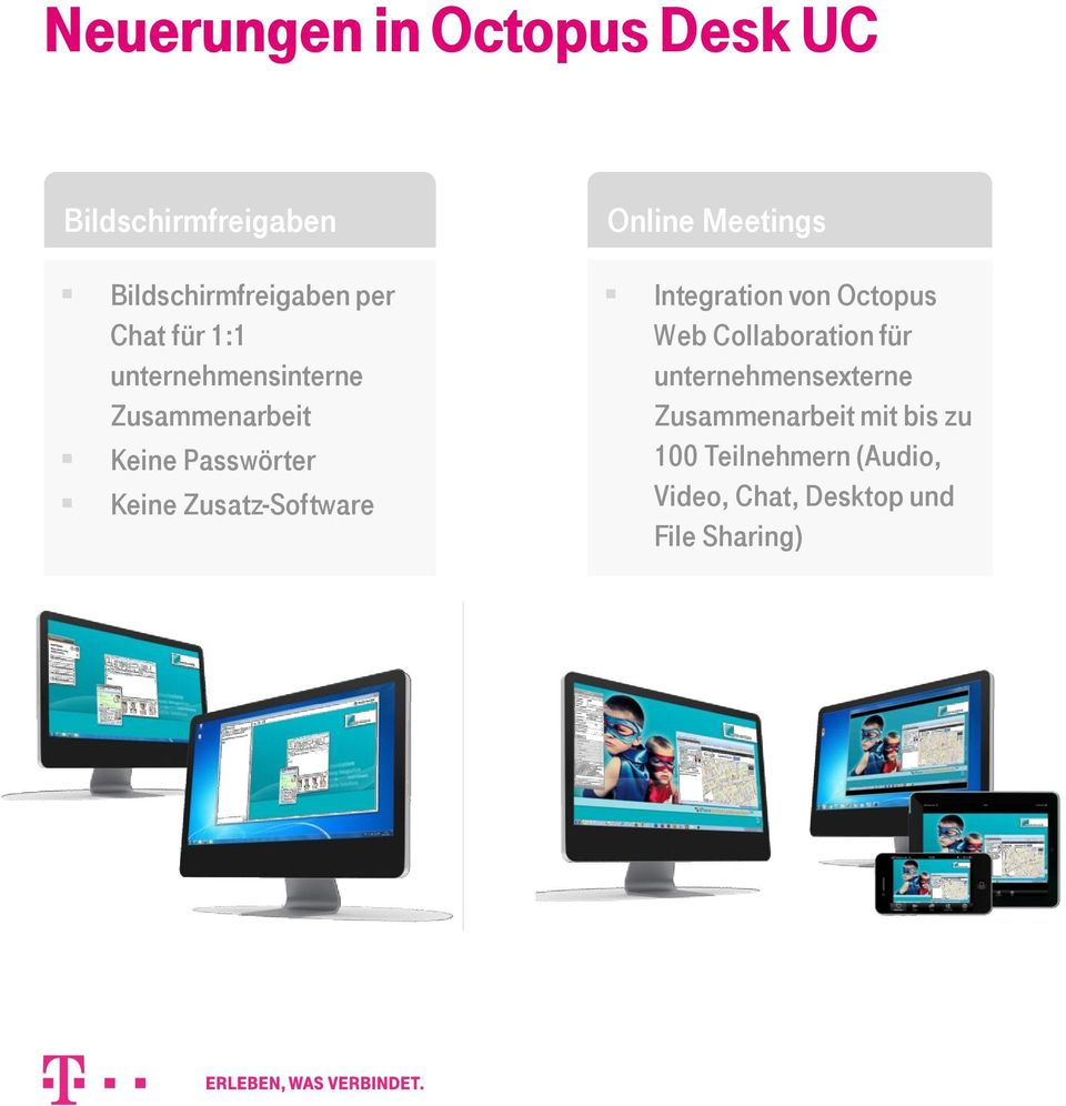Online Meetings Integration von Octopus Web Collaboration für