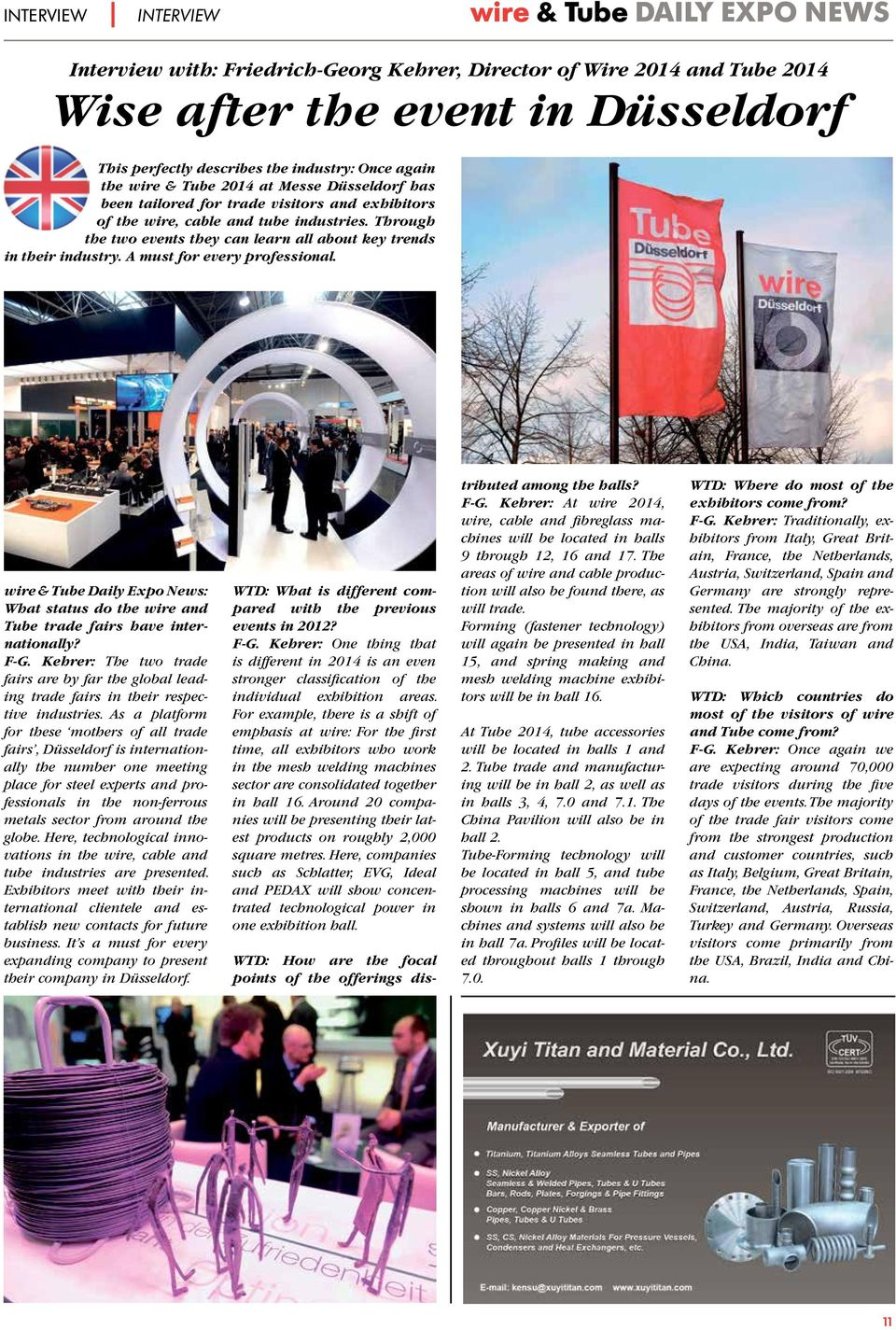 A must for every professional. & Daily Expo News: What status do the and trade fairs have internationally? F-G.