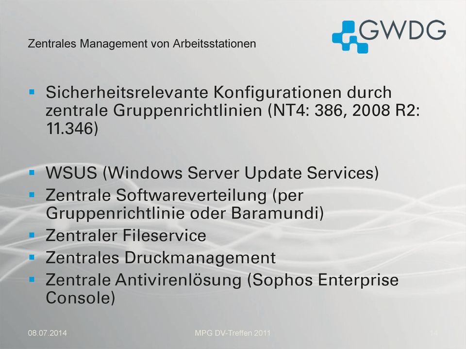 346) WSUS (Windows Server Update Services) Zentrale Softwareverteilung (per Gruppenrichtlinie