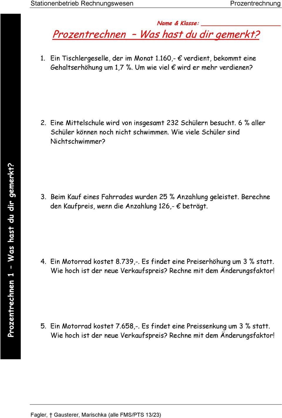 prozentrechnung infoblatt pdf. Black Bedroom Furniture Sets. Home Design Ideas