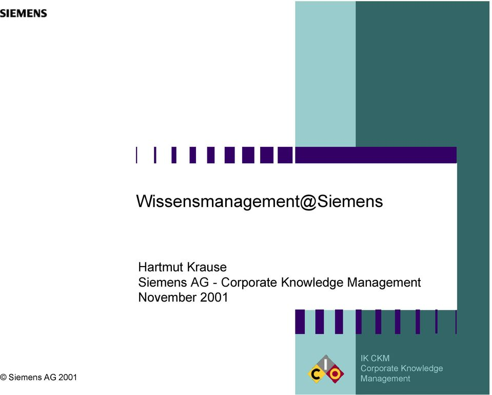 Knowledge Management November