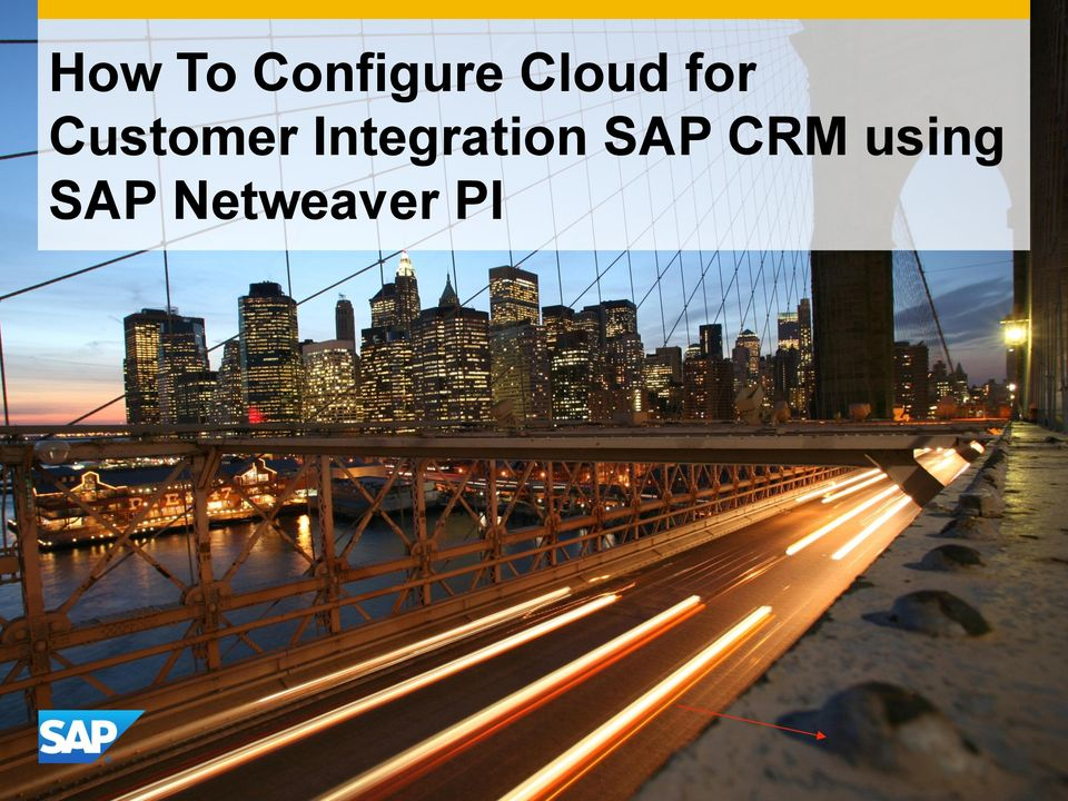 Integration SAP CRM