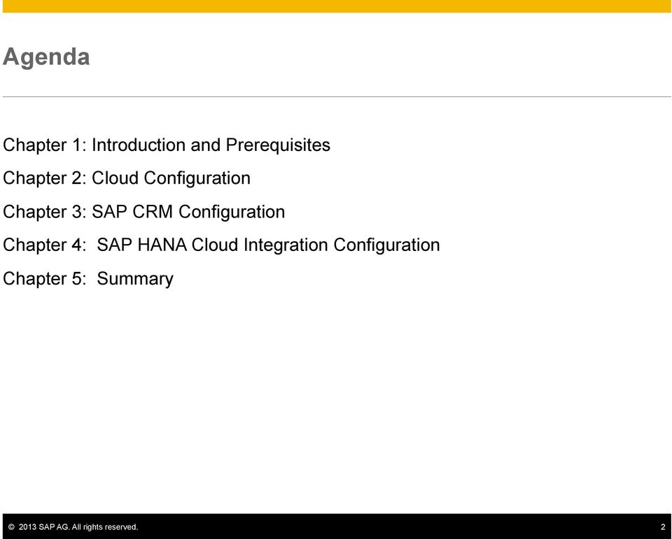 Configuration Chapter 4: SAP HANA Cloud Integration