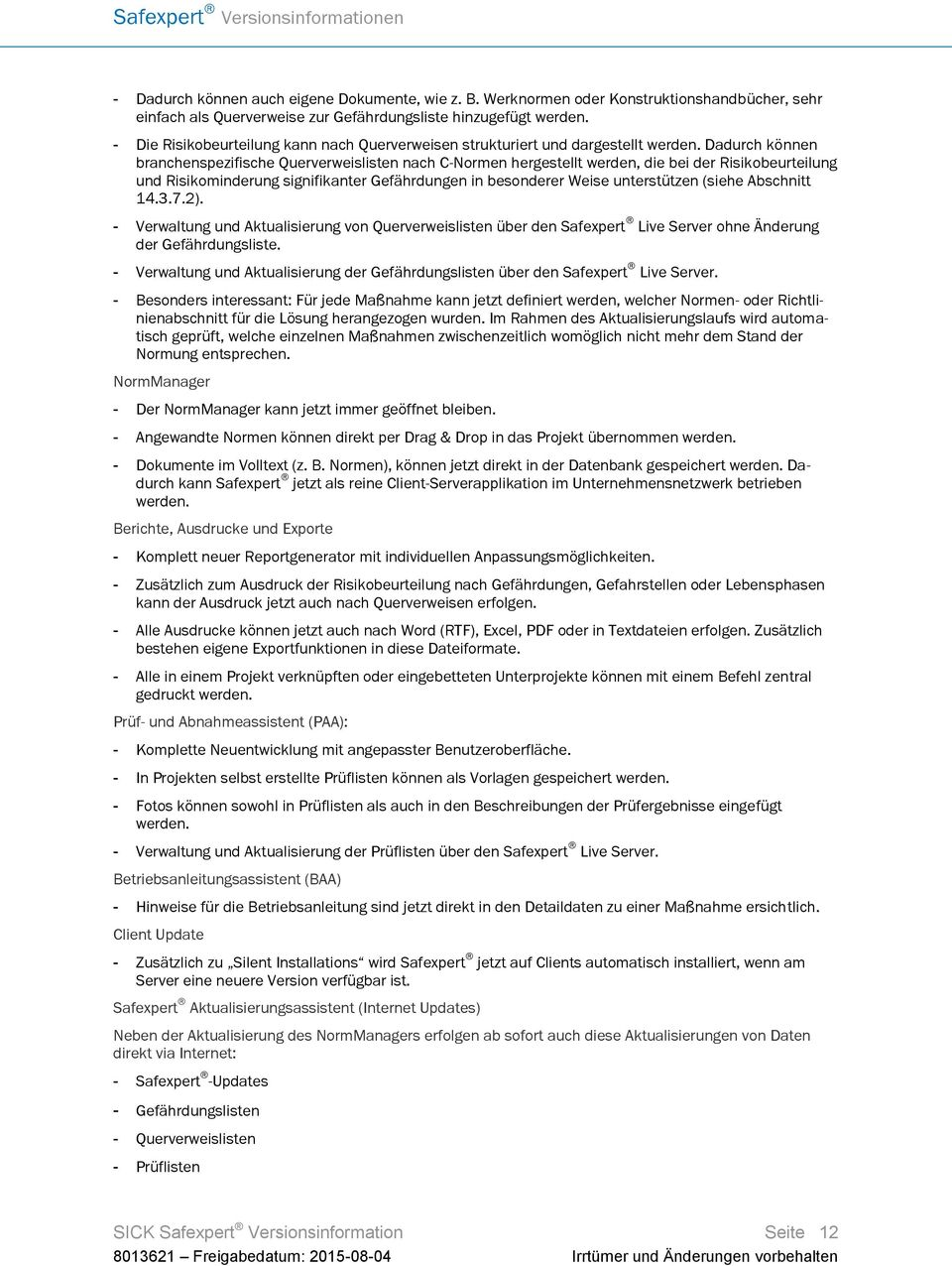safexpert versionsinformationen pdf