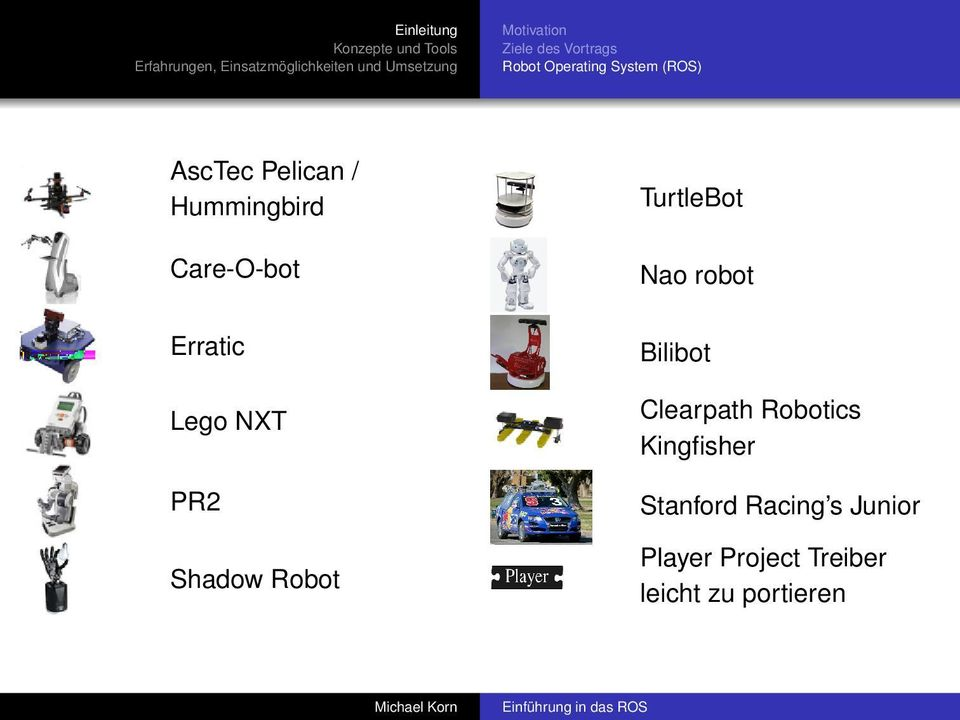 Shadow Robot TurtleBot Nao robot Bilibot Clearpath Robotics