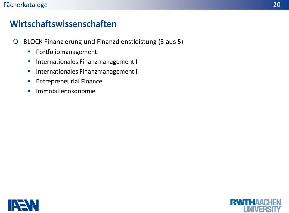 Portfoliomanagement Internationales Finanzmanagement I