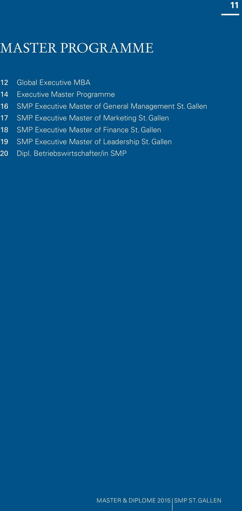 Gallen 17 SMP Executive Master of Marketing St.