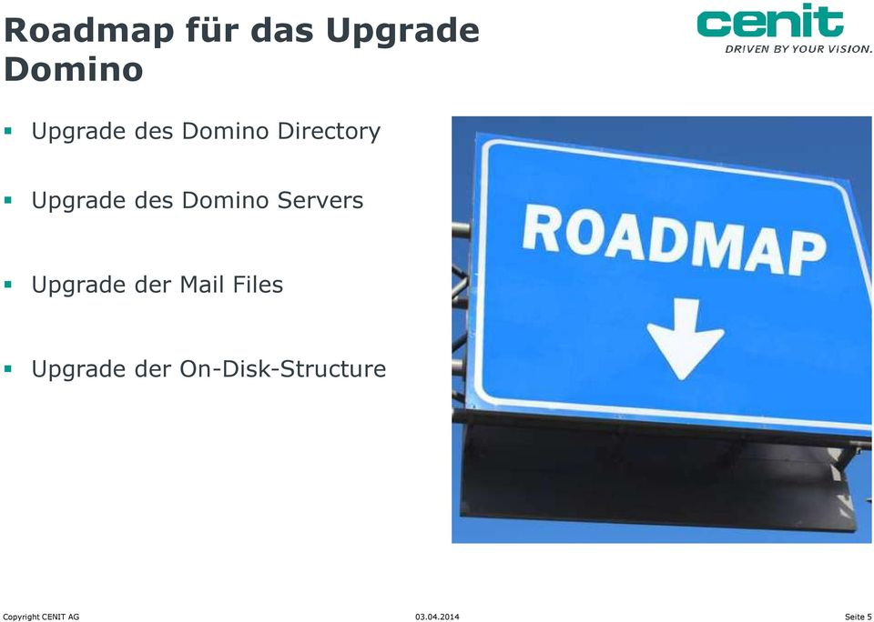 Servers Upgrade der Mail Files Upgrade