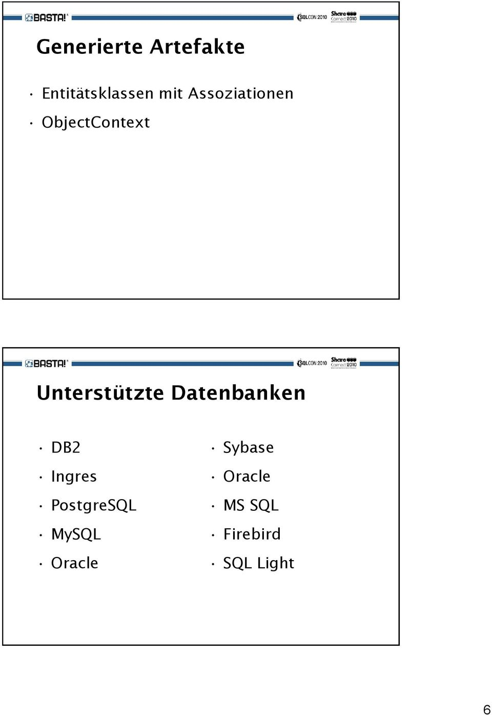 Datenbanken DB2 Ingres PostgreSQL MySQL