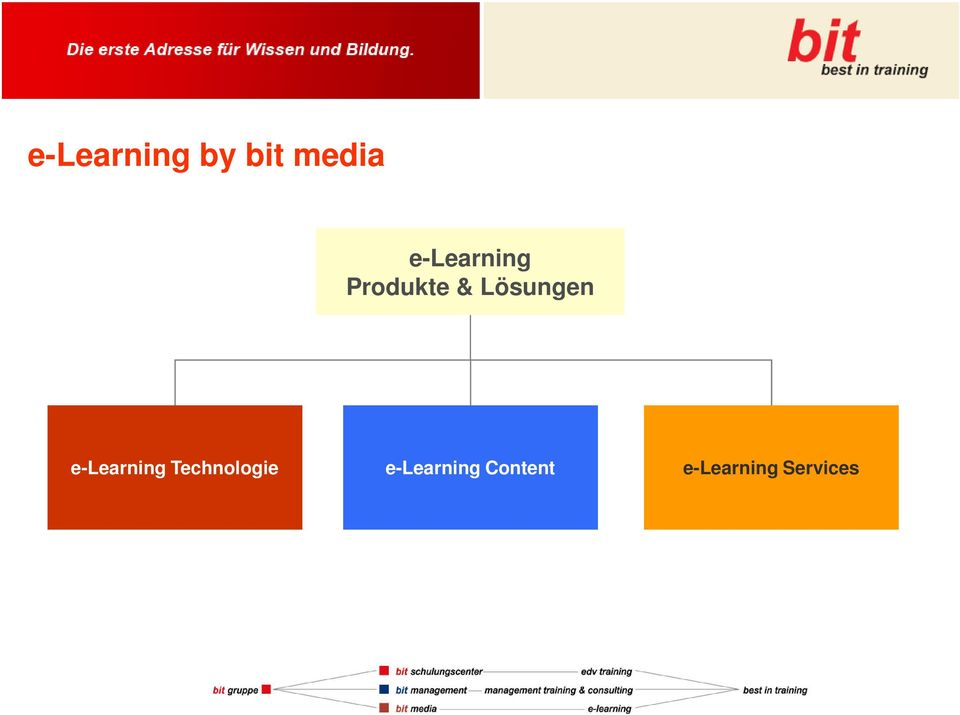 Lösungen e-learning