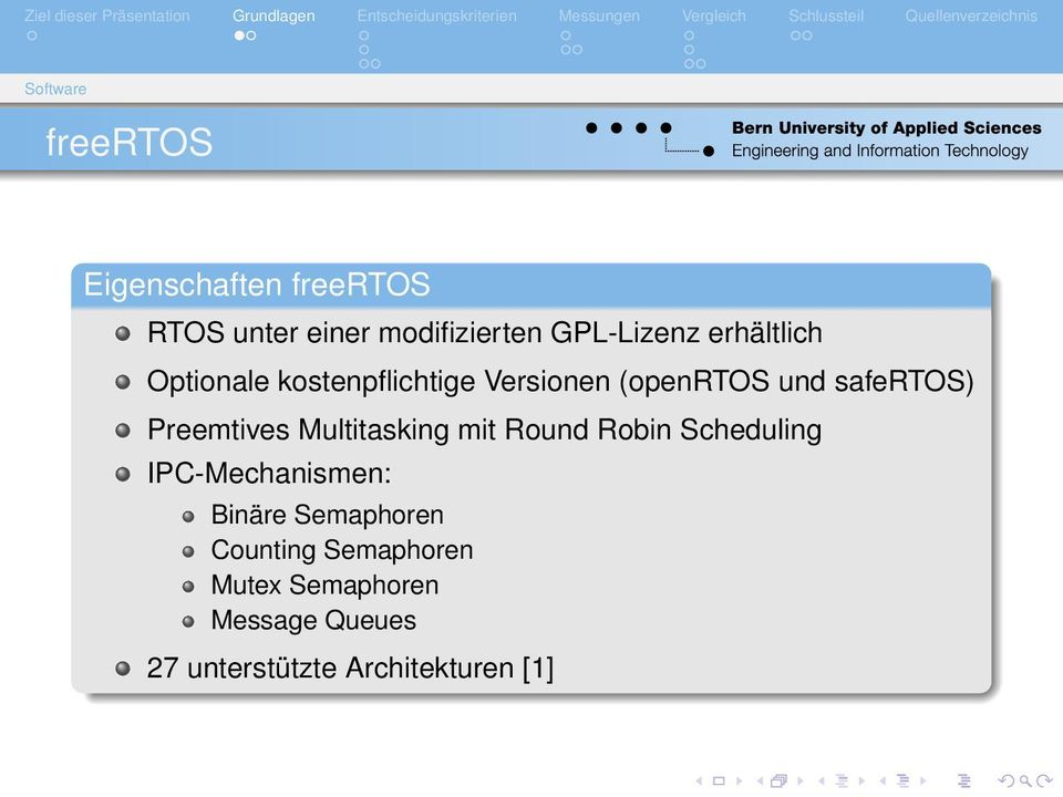 safertos) Preemtives Multitasking mit Round Robin Scheduling IPC-Mechanismen: