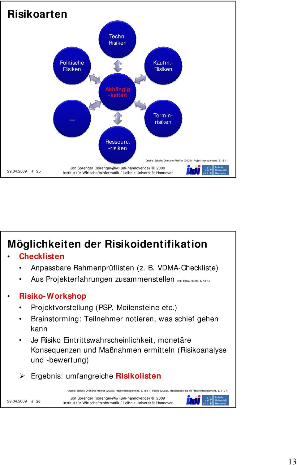 ) Risiko-Workshop Projektvorstellung (PSP, Meilensteine etc.