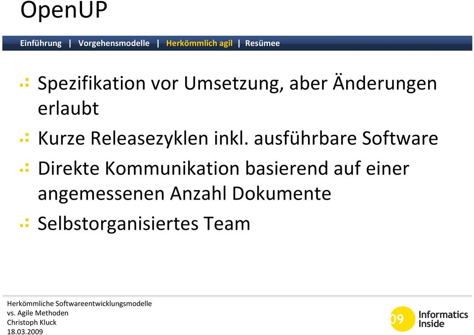 ausführbare Software Direkte Kommunikation