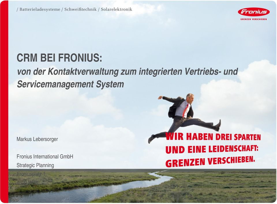 System Markus Lebersorger Fronius International