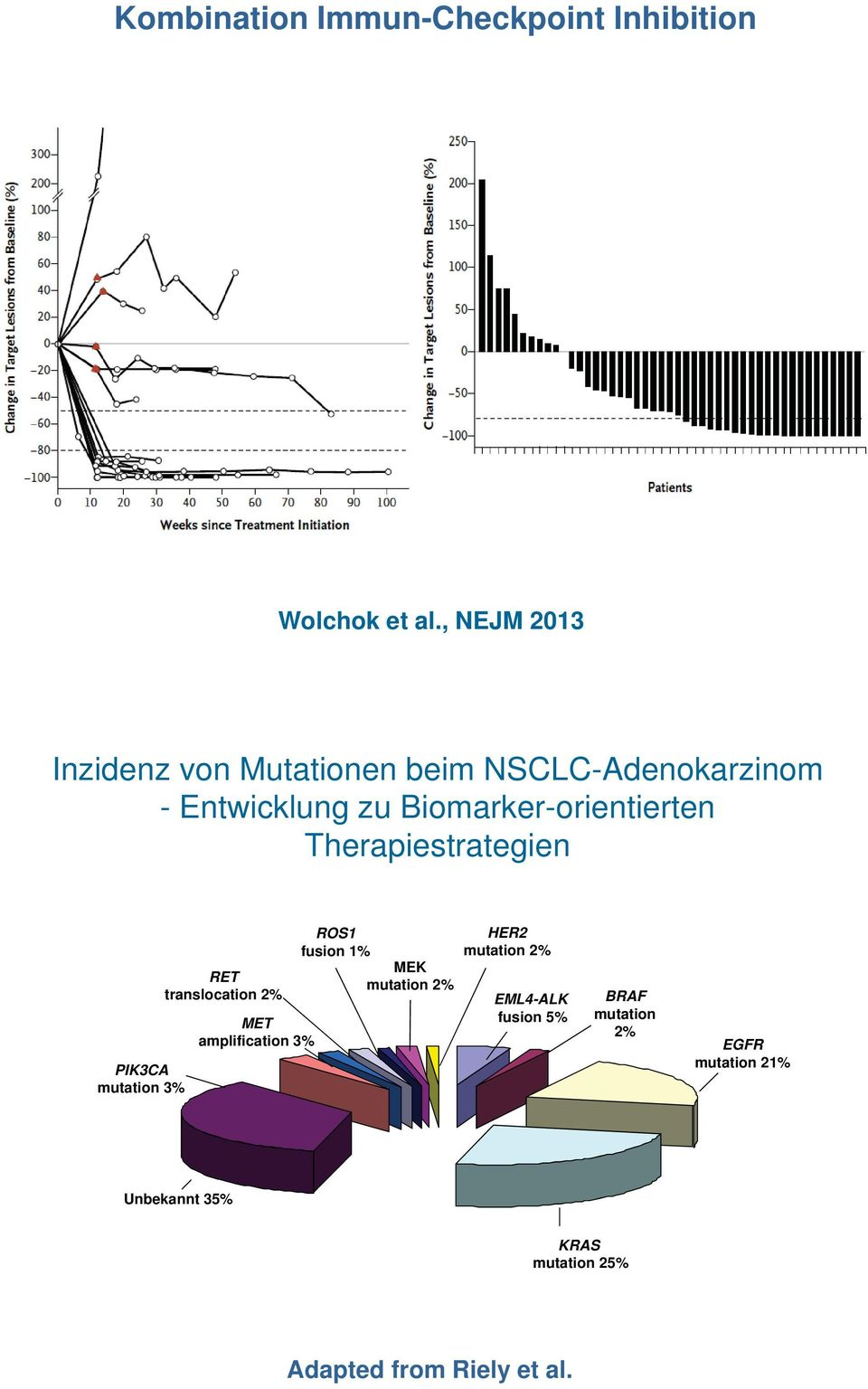 Biomarker-orientierten Therapiestrategien PIK3CA mutation 3% RET translocation 2% MET