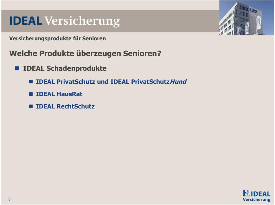 IDEAL Schadenprodukte IDEAL PrivatSchutz