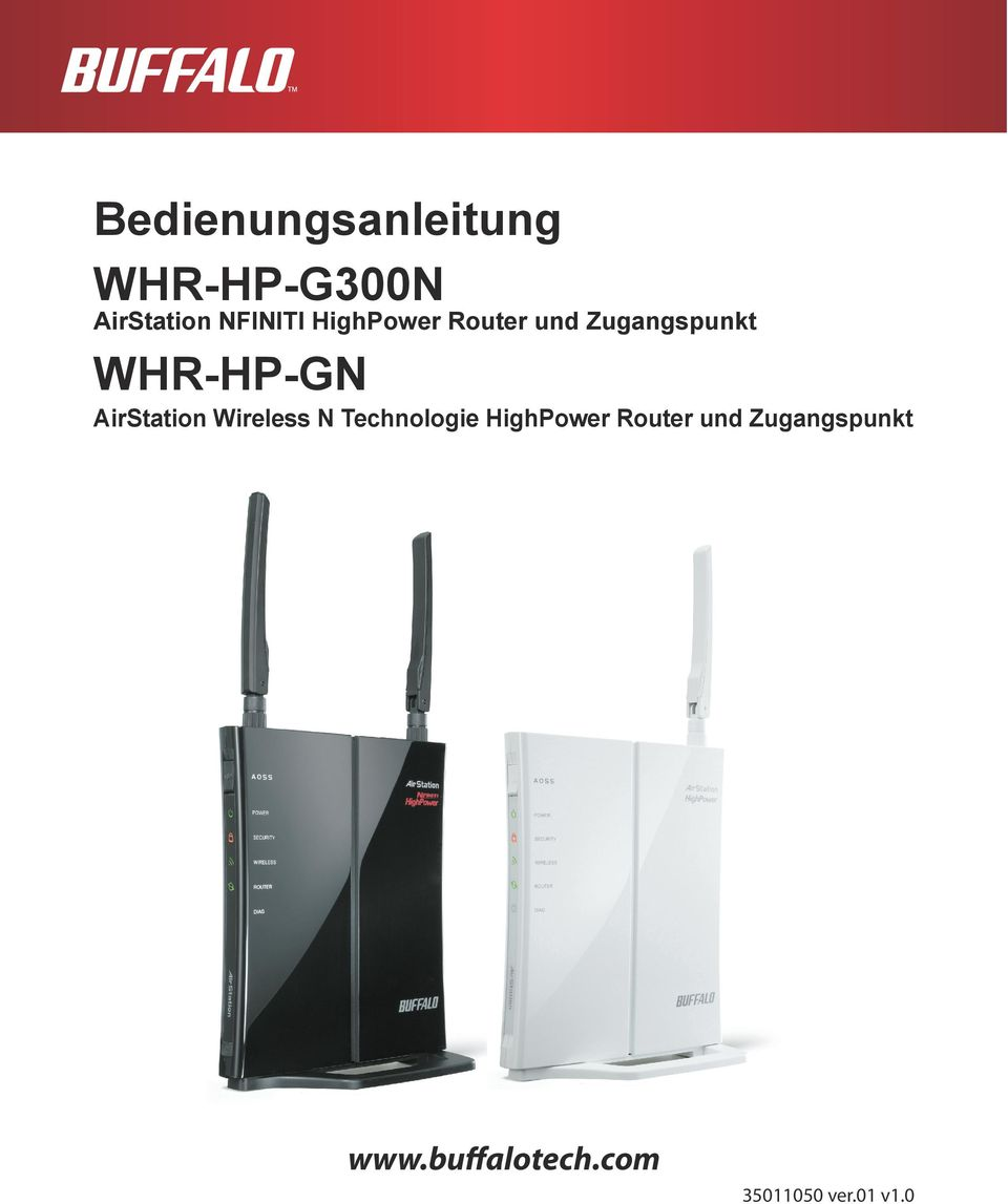 WHR-HP-GN AirStation Wireless N Technologie