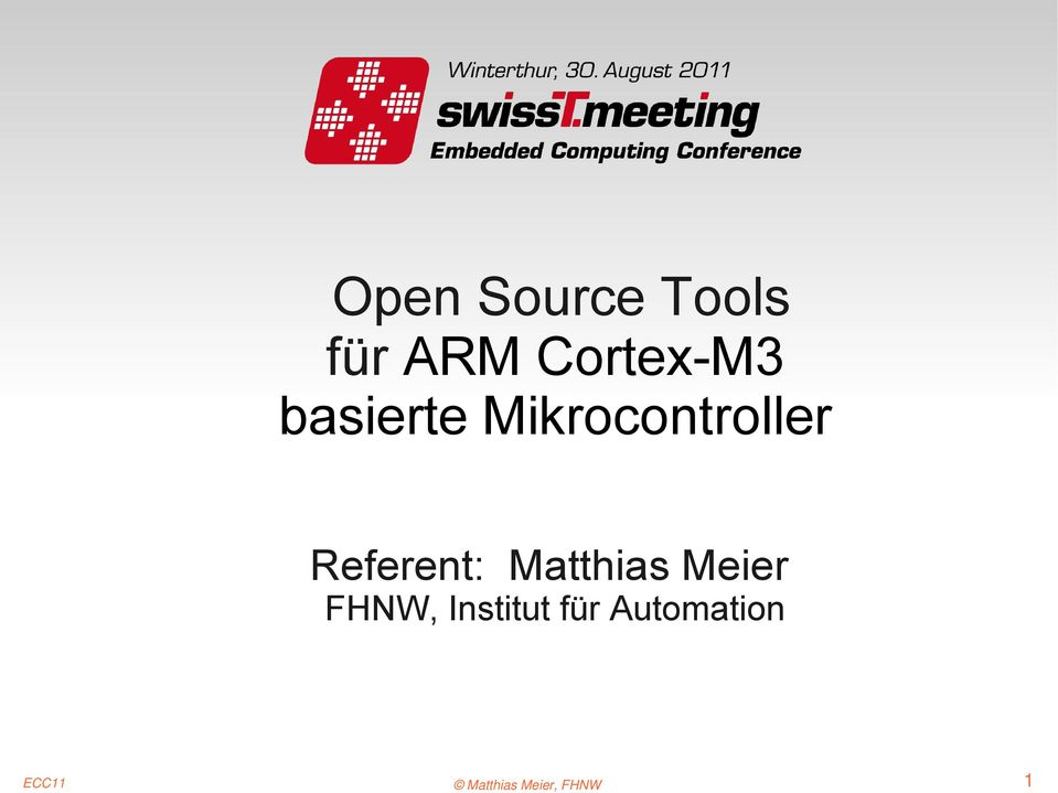 Mikrocontroller Referent:
