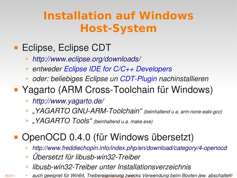 eclipse.org/downloads/ entweder Eclipse IDE for C/C++ Developers oder: beliebiges Eclipse un CDT Plugin nachinstallieren http://www.freddiechopin.info/index.