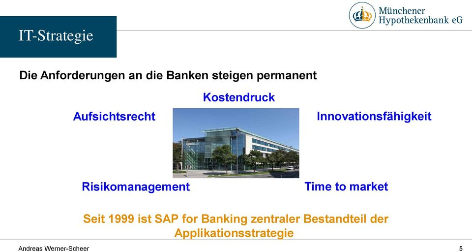 Risikomanagement Time to market Seit 1999 ist SAP for